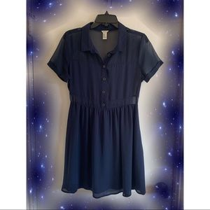 Navy blue mesh dress